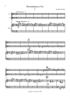 Divertimento a Tre: 1st Movement (for Violin, Viola and Piano) by Andrew Moore