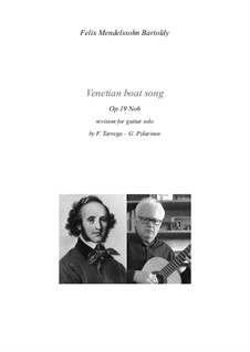 Songs without Words, Op.19b: No.6 Venezianisches Gondellied (Venetian Gondola Song), for guitar by Felix Mendelssohn-Bartholdy