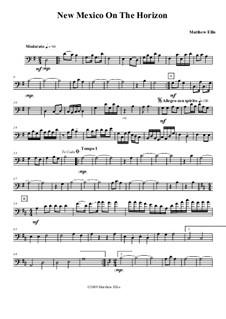 New Mexico On The Horizon: Cello part by Matthew Ellis