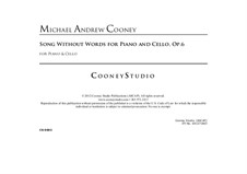 Song Without Words for Cello and Piano, Op.6: Song Without Words for Cello and Piano by Michael Cooney