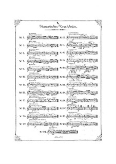 Bunte Reihe, Op.30: Complete set, for piano by Ferdinand David