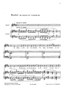 Three Songs of France, L.102: Three Songs of France by Claude Debussy