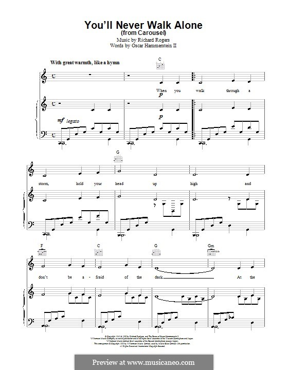 You'll Never Walk Alone (from Carousel): For voice and piano or guitar by Richard Rodgers