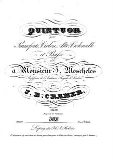 Piano Quintet , Op. 69: Piano Quintet  by Johann Baptist Cramer