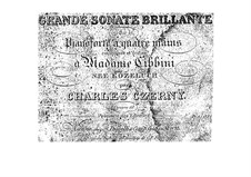 Sonata for Piano Four Hands, Op.10: First part, second part by Carl Czerny
