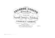 Sonata for Piano No.2 in A Minor, Op.13: For a single performer by Carl Czerny