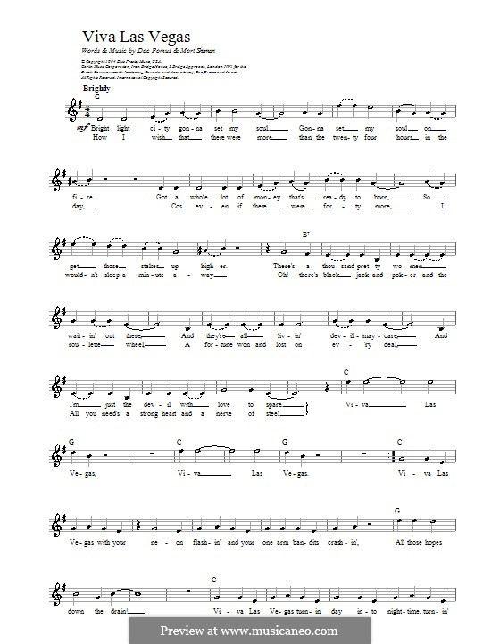 Viva Las Vegas Elvis Presley By D Pomus M Shuman On Musicaneo
