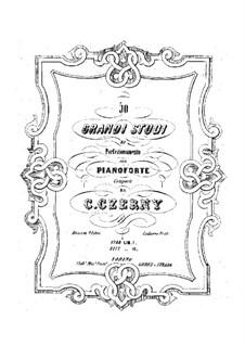 Grandi Studi di Perfezionamento, Op.409: For piano by Carl Czerny