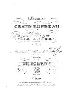 Grand Rondeau, Op.5 No.1: Grand Rondeau by Carl Czerny