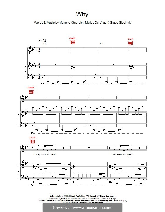 Why: For voice and piano (or guitar) by Melanie C