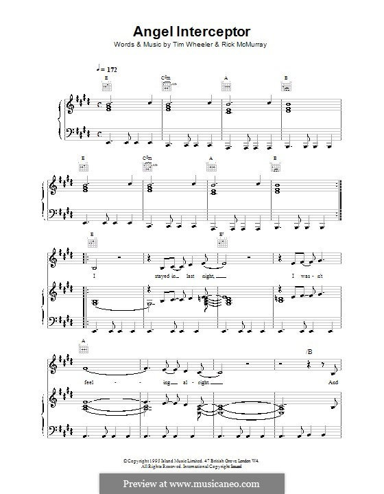 Angel Interceptor (Ash): For voice and piano (or guitar) by Tim Wheeler, Rick McMurray