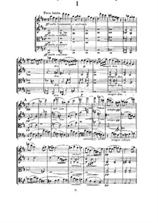String Quartet in D Major, M.9: Full score by César Franck