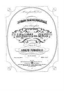 Studio Trascendentale, Op.102: For piano by Adolfo Fumagalli