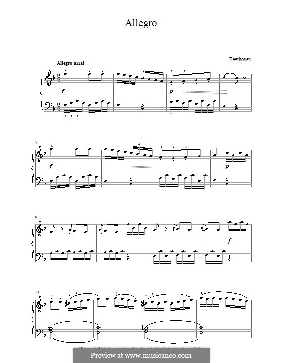 Sonatina in F Major: Movement I by Ludwig van Beethoven