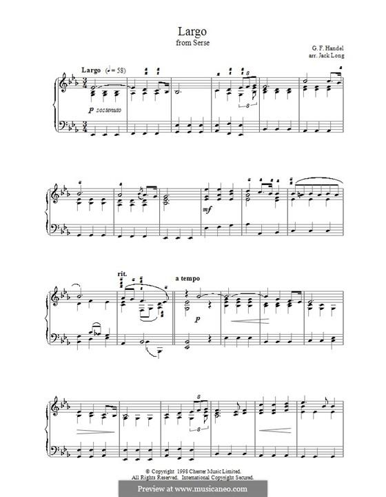 Largo: For piano (E Flat Major) by Georg Friedrich Händel