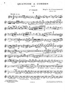 String Quartet in G Minor, Op.28: Parts by Roger de Francmesnil