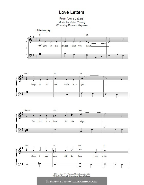 Love Letters: For piano (Elvis Presley) by Victor Young