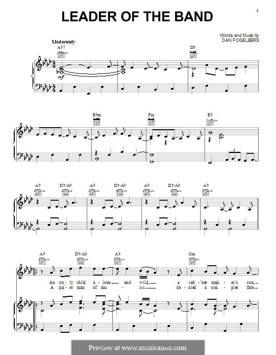 Leader of the Band: For voice and piano (or guitar) by Dan Fogelberg