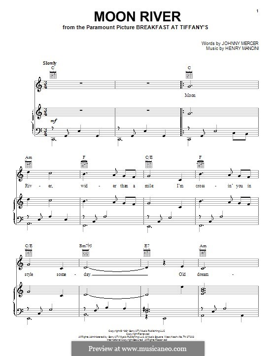 For voice and piano or guitar (Andy Williams)