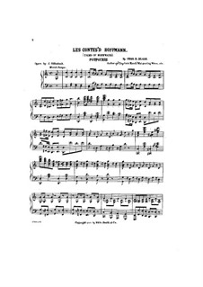 Potpourri: For piano by Jacques Offenbach