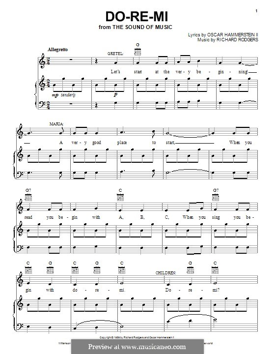 Do-Re-Mi (from The Sound of Music): For voice and piano or guitar by Richard Rodgers