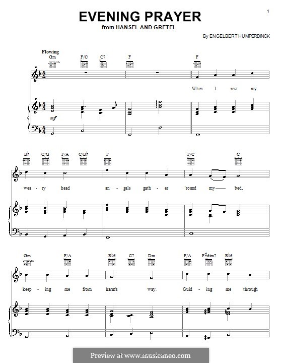 Evening Prayer: For voice and piano (or guitar) by Engelbert Humperdinck