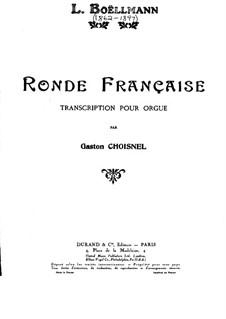Ronde Française, Op.37: Ronde Française by Léon Boëllmann