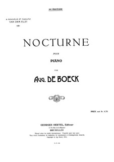 Nocturne: For piano by August de Boeck