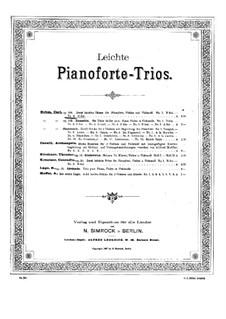 Two Easy Trios for Violin, Cello and Piano, Op.330: Trio No.2 by Carl Böhm