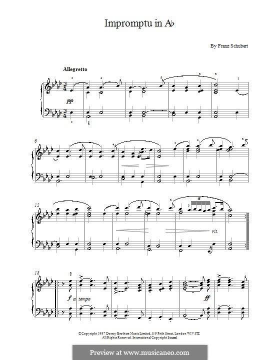 Four Impromptus for Piano, D.935 Op.142: Impromptu No.2 by Franz Schubert