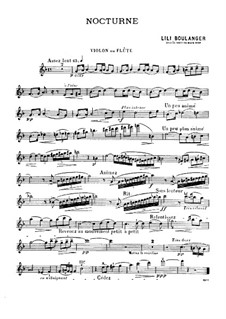 Two Pieces for Violin (or Flute) and Piano: Two Pieces for Violin (or Flute) and Piano by Lili Boulanger