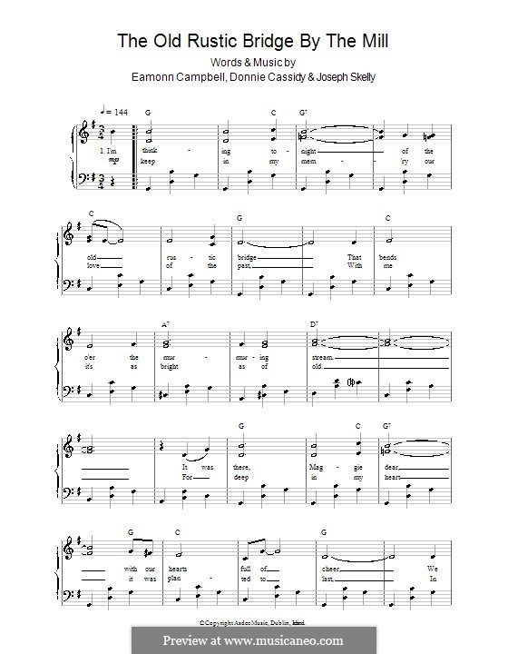 The Old Rustic Bridge By The Mill: For voice and piano (or guitar) by Eamonn Campbell