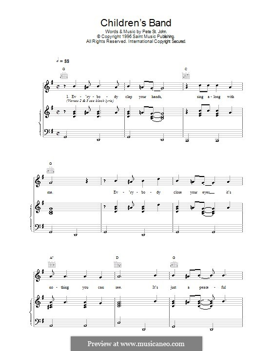 Children's Band: For voice and piano (or guitar) by Pete St. John