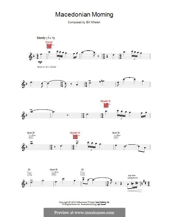 Macedonian Morning (from Riverdance): Melody line by Bill Whelan