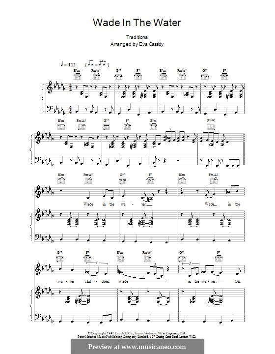 Wade in the Water by folklore - sheet music on MusicaNeo
