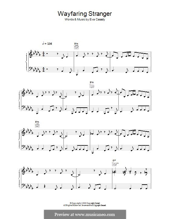 Wayfaring Stranger by folklore - sheet music on MusicaNeo