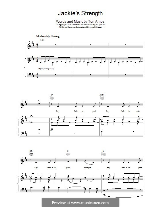 Jackie's Strength: For voice and piano (or guitar) by Tori Amos