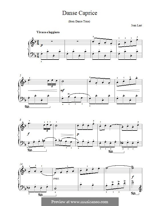 Danse Caprice: For piano by Joan Last