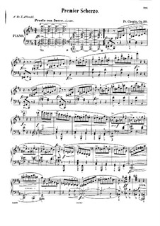Scherzo No.1 B Minor, Op.20: For piano by Frédéric Chopin