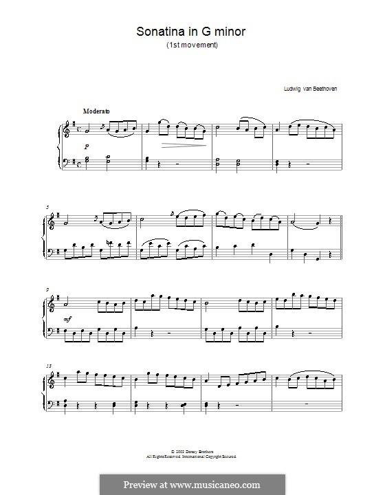 Sonatina in G Major: Movement I by Ludwig van Beethoven