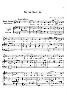 Salve regina: Salve regina by Gabriel Fauré