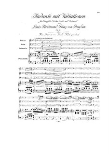 Andante and Variations for Piano, Violin, Viola and Cello in B Flat Major, Op.4: Andante and Variations for Piano, Violin, Viola and Cello in B Flat Major by Louis Ferdinand Prince of Prussia