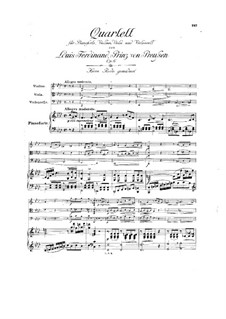 Piano Quartet in F Minor, Op.6: Piano Quartet in F Minor by Louis Ferdinand Prince of Prussia
