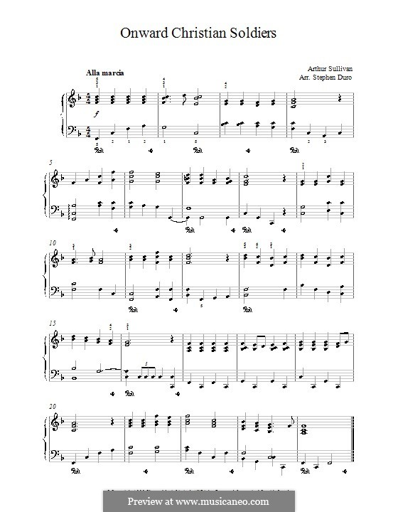 Onward, Christian Soldiers: For piano by Arthur Seymour Sullivan