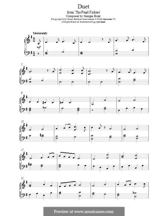 Del tempio al limitar: For piano by Georges Bizet