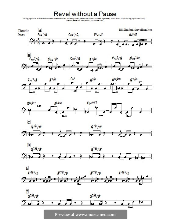 Revel without a Pause: For double bass by Steve Hamilton