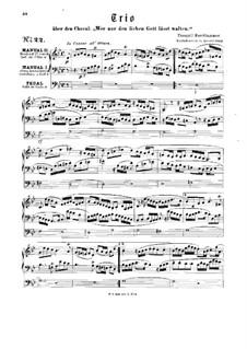 Trio of Chorale 'Wer nur den lieben Gott lässt walten': Trio of Chorale 'Wer nur den lieben Gott lässt walten' by Theophil Forchhammer