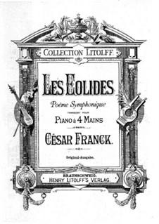 Les Éolides: For piano four hands by César Franck