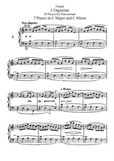 L'Organiste. Fifty-Nine Pieces for Harmonium: Complete set by César Franck