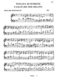 Toccata di Durezze e Ligature: Toccata di Durezze e Ligature by Girolamo Frescobaldi